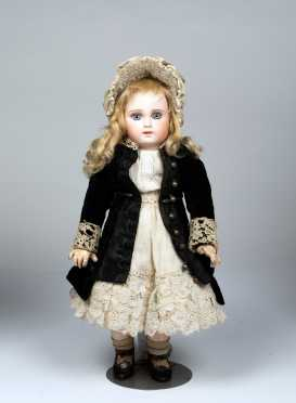 "16"" French Bebe Jumeau Bisque Socket Head Doll"