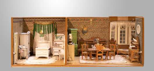 1890s Two Room Diorama with Bay Window