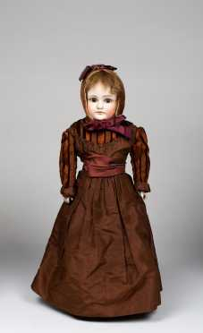"20"" Closed Mouth Bisque Shoulder Head Doll"