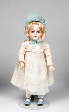"18"" German JD Kestner Closed Mouth Bisque Socket Head Doll"