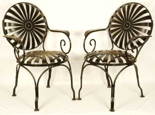 Pair of Metal Arm Chairs