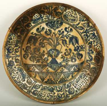 Middle Eastern Clay Pottery Bowl