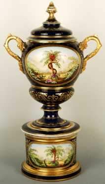 Vienna Porcelain Covered Apothecary Urn