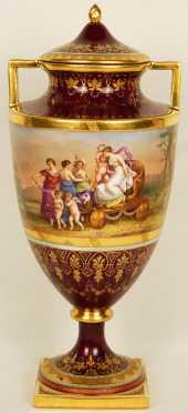 Royal Vienna Covered Urn