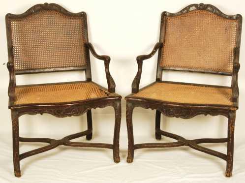 Pair of Regency Style Fauteuils