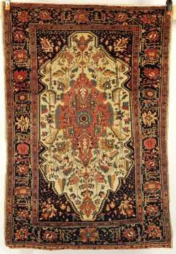 Antique Sarouk Scatter Oriental Rug