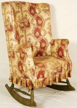 Windsor Barrel Back Rocking Wing Chair