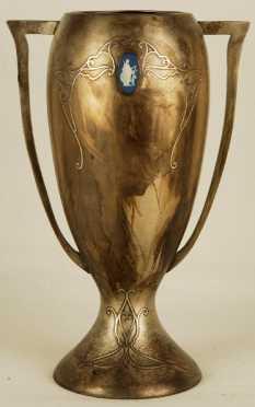Silver On Bronze Vase