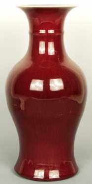 Chinese Vase, ox blood glazed porcelain