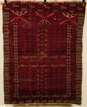 Bokhara/Afghan Scatter Oriental Rug