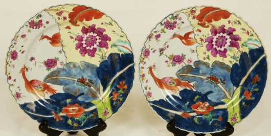 Pair Of Chinese Decorated Plates