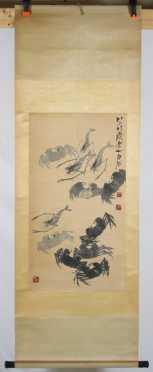 Asian Scroll Print