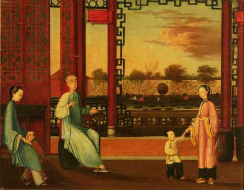 Chinese Export Interior Painting