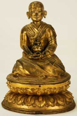 Chinese Carved Seated Buddha