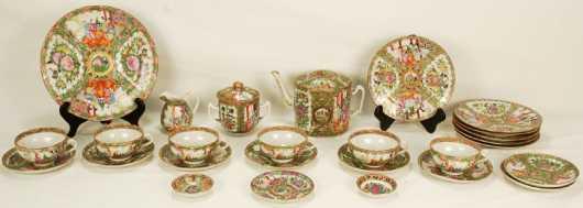 Rose Medallion Assembled Tea Set