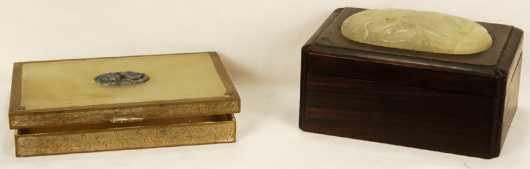 Chinese Jade embellished boxes