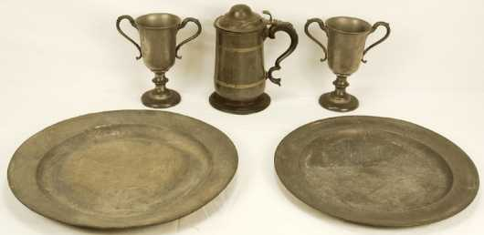 Five Pieces of Pewter