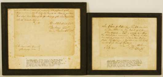 Two Hand Written Early Documents From Revolutionary War Veterans