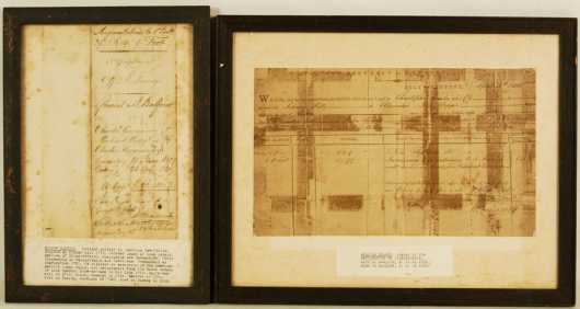 Two Early American Revolutionary War Veteran Documents