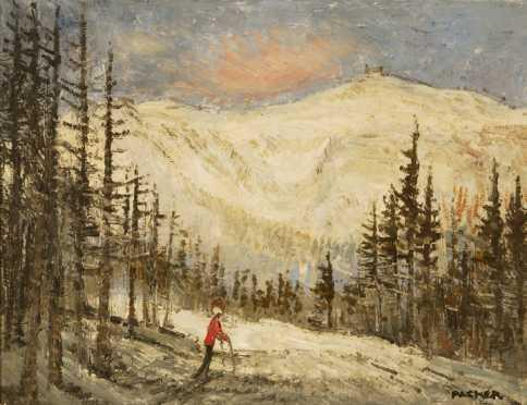 Richard Gordon Packet, Winter landscape with a lone skier