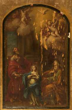 """Old Master Style, oil on canvas , of the """"Holy Family,"""""""