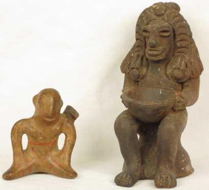 Two Pre-Columbian Figures