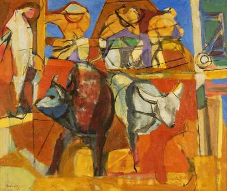 Luis Guevara Moreno, oil on canva