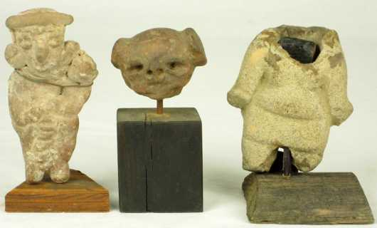 Miscellaneous Lot of Three Pre-Columbian Pottery Artifacts