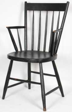 Black Stick Back Windsor Arm Chair