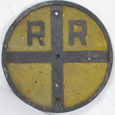 Cast Iron Rail Road Sign