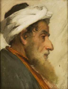 Middle Eastern Drawing, 19/20th century pastel