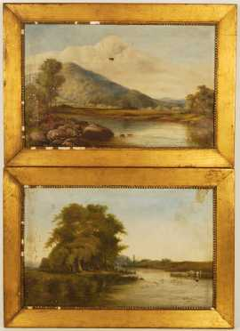B. Whittaker, lot of 2 landscapes
