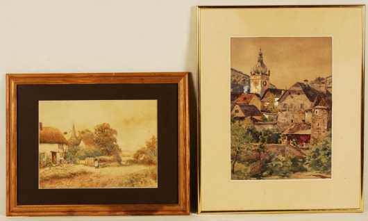 Two European Watercolors