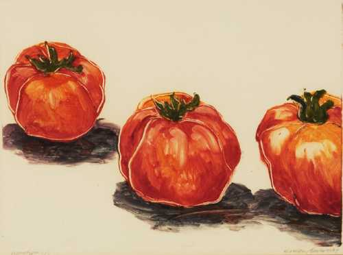 """Evelien Bachrach Seeger,  """"Monotype 1/1"""", of """"Tomatoes,"""""""
