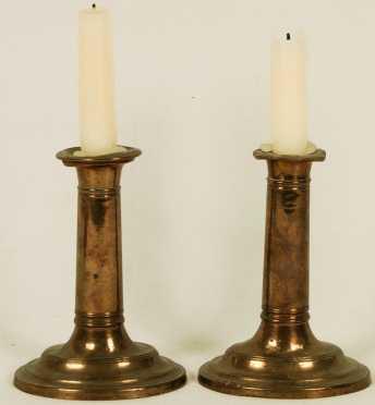 Pair of Sheffield Candlesticks
