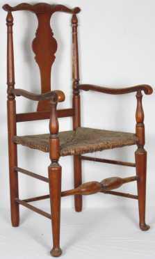 Country Queen Ann Style Arm Chair