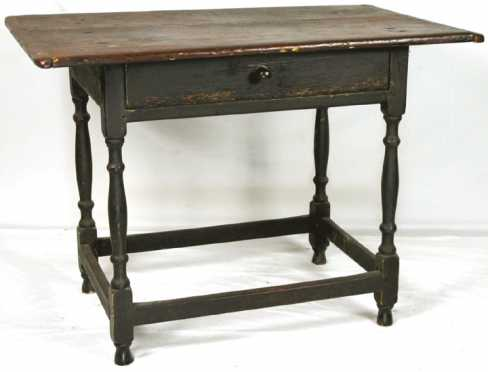 William And Mary Painted Tavern Table