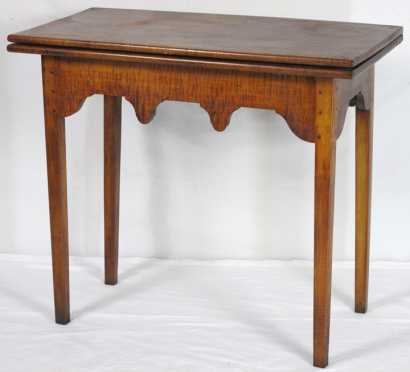 Tiger Maple NH Card Table
