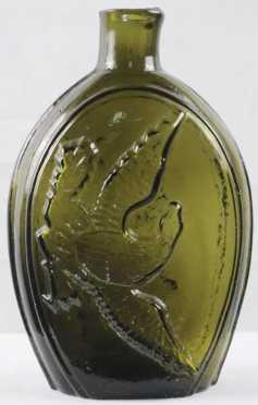 Historical Flask, Keene Glass