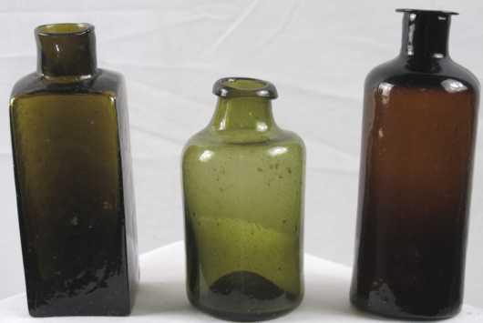 Three Blown Bottles