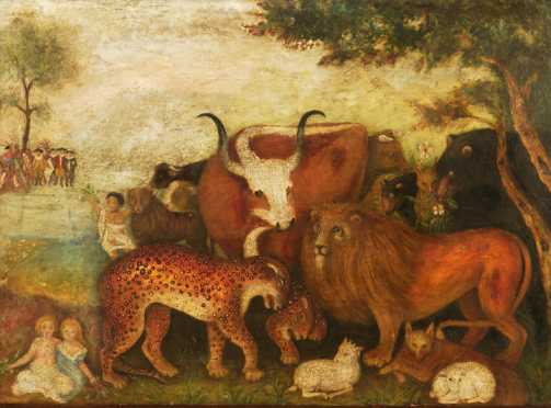 Peaceable Kingdom, School Of Edward Hicks, 19th centurry  painting