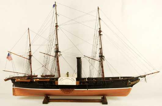 Steam/Sail Ship Model