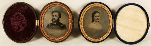George Nathaniel Carpenter and Agnes William Tin Types