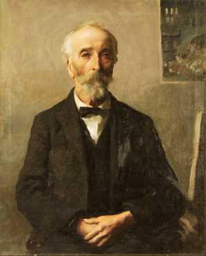 Frederick Rhodes Sisson, 3/4 portrait of  Abbott Thayer