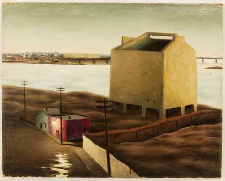 "Frederick Rhodes Sisson painting ""The Coal Bin"""