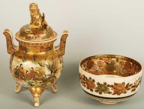 Satsuma Porcelain Lot