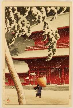 Original Japanese Block Print by Kawase Hasui