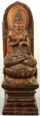 Indian Deity Wood Carving