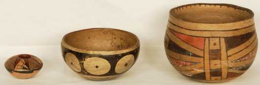 Three Pieces of Native American Pottery