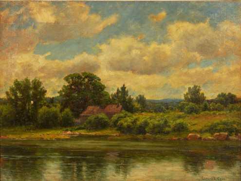Edmund Elisha Case oil on canvas